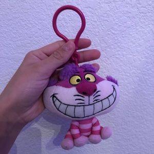 Alice in wonderland Cheshire Cat plush keychain
